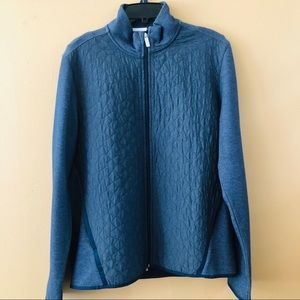 NWT! Perry Ellis Dark Sapphire Quilted Knit Jacket